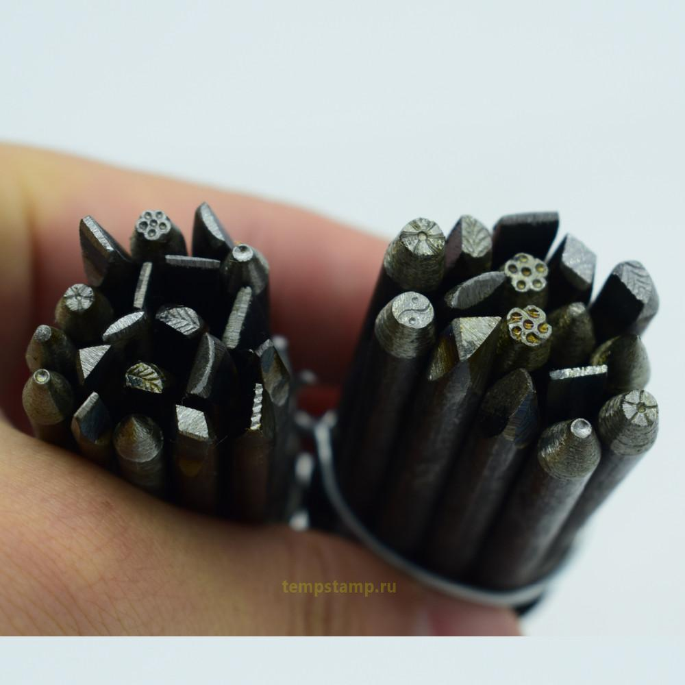 """""""Stamps for embossing on the skin. 20 small shaped tools set."""""""