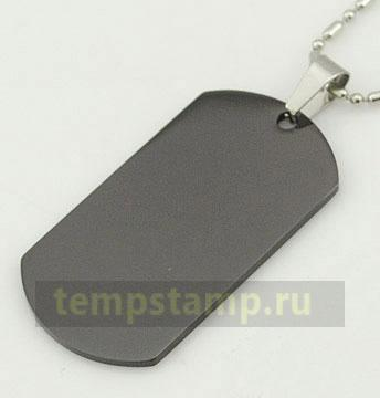 """Black dog tag (for engraving)"""