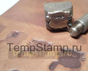 """Stamp for leather embossing removable """