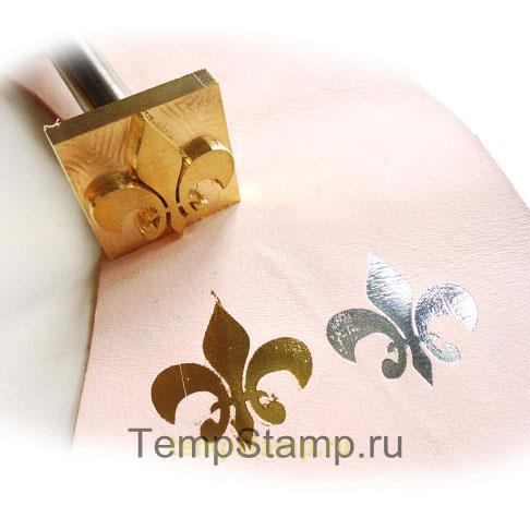 """Stamp for embossing foil on the leather"""