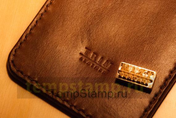 """Stamp for embossing leather souvenirs"""
