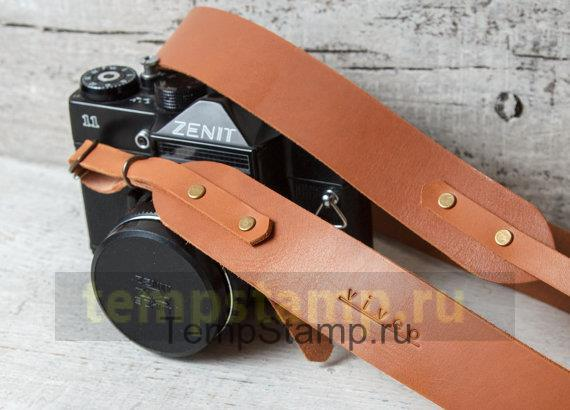 """Stamp for embossing on the camera strap"""