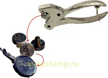 """Engraving seal plates  for lead sealing pliers """