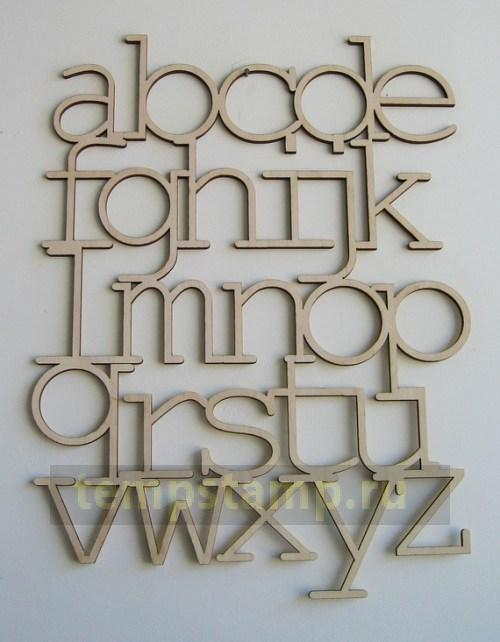 Carved wooden letters