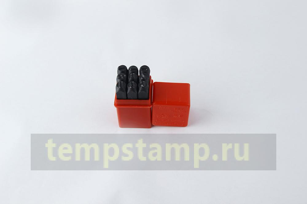 """ Set of Impact stamps  - figures 8 mm"""
