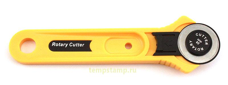 A circular knife for leather, plastic, paper