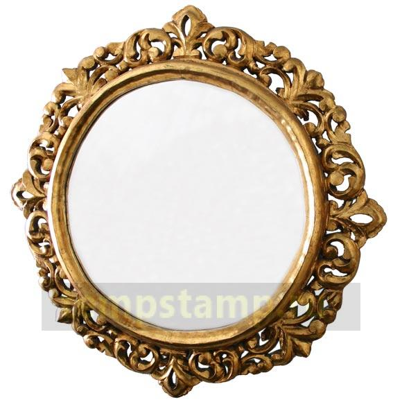 Carved frame for a mirror