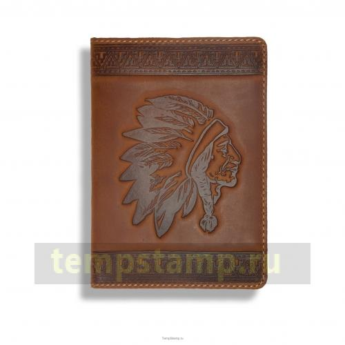 """Stamp for embossing  a passport cover"""