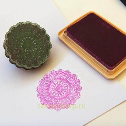Stamp for fabric rubber