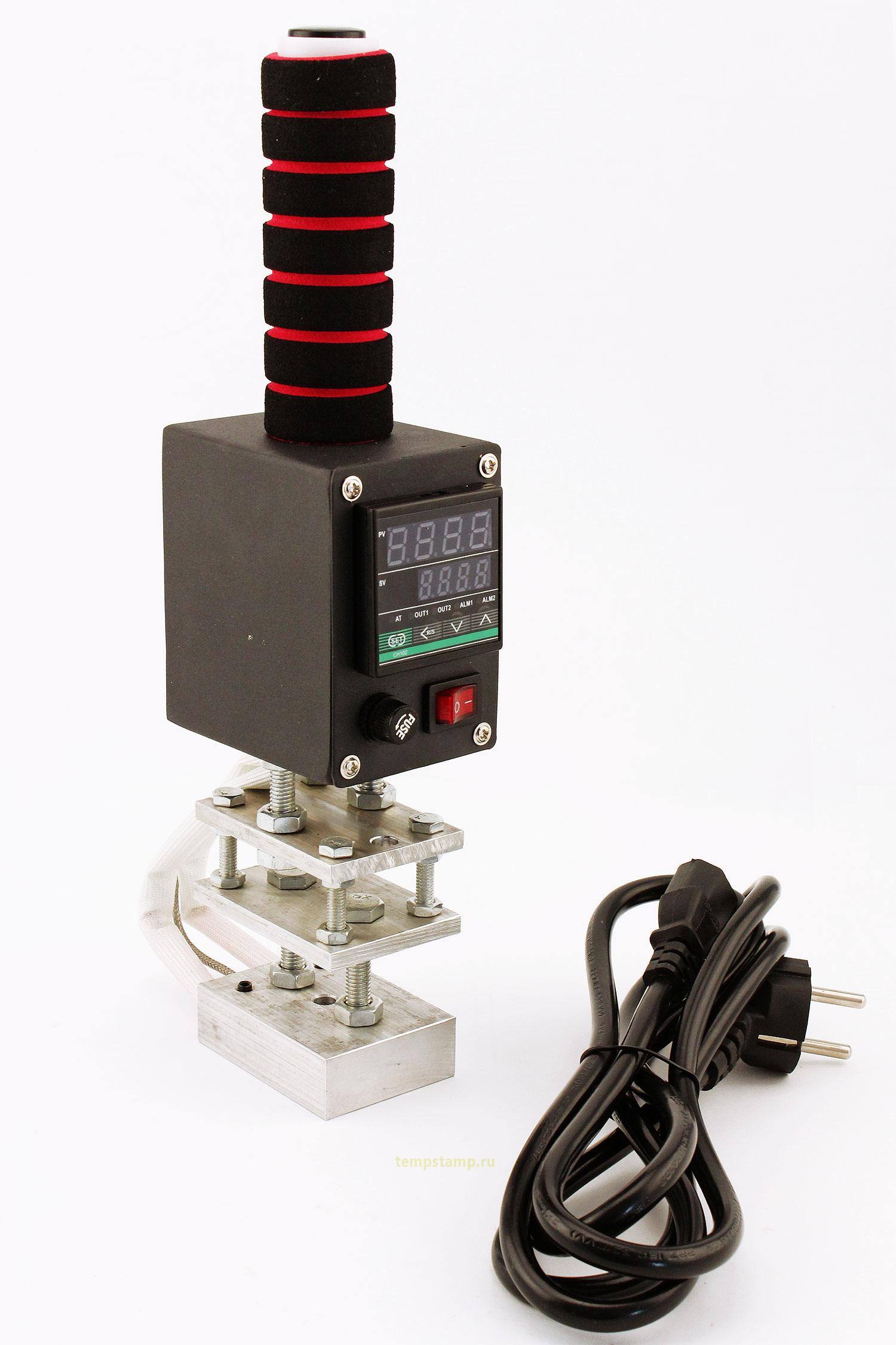 Electric heater with digital control for custom logo branding irons