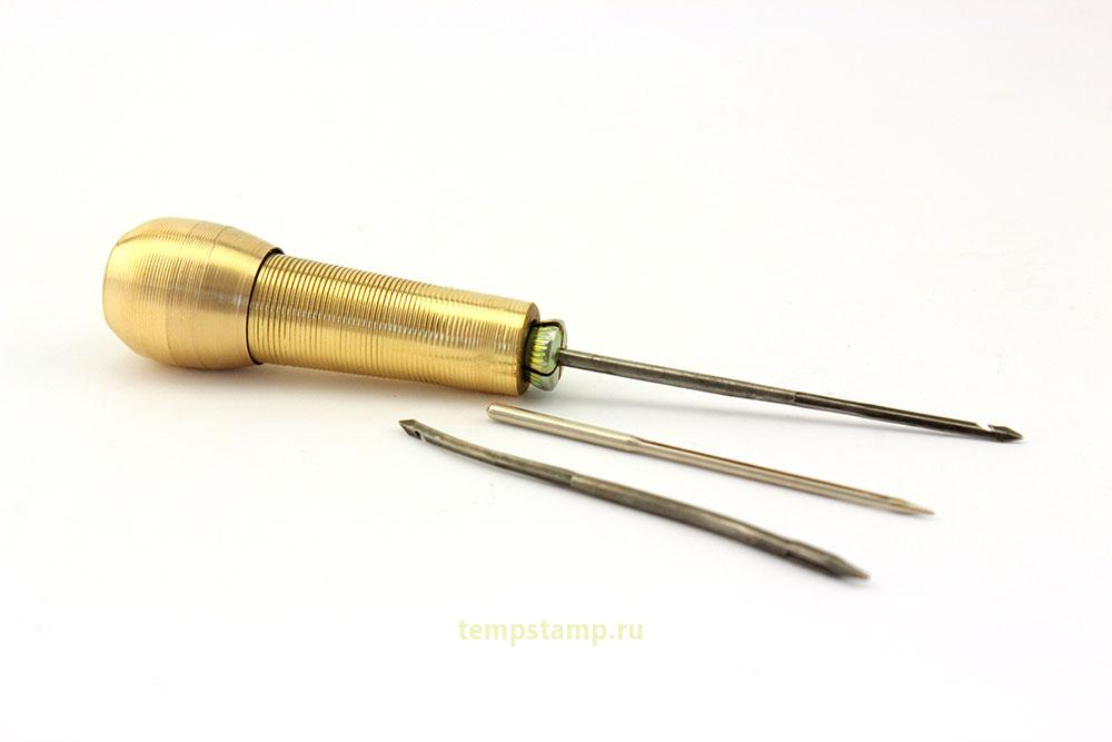 """""""Leather Sewing Awl with interchangeable needles"""""""
