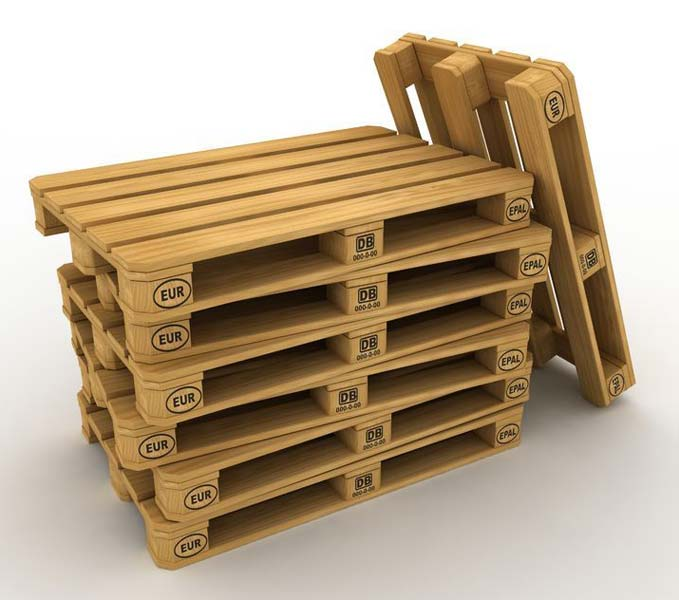 Branding irons for marking pallets